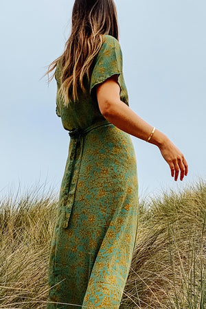 Vivian Wrap Dress - Seaweed - The Canyon