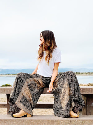 Wide Leg Breezy Pant - The Canyon