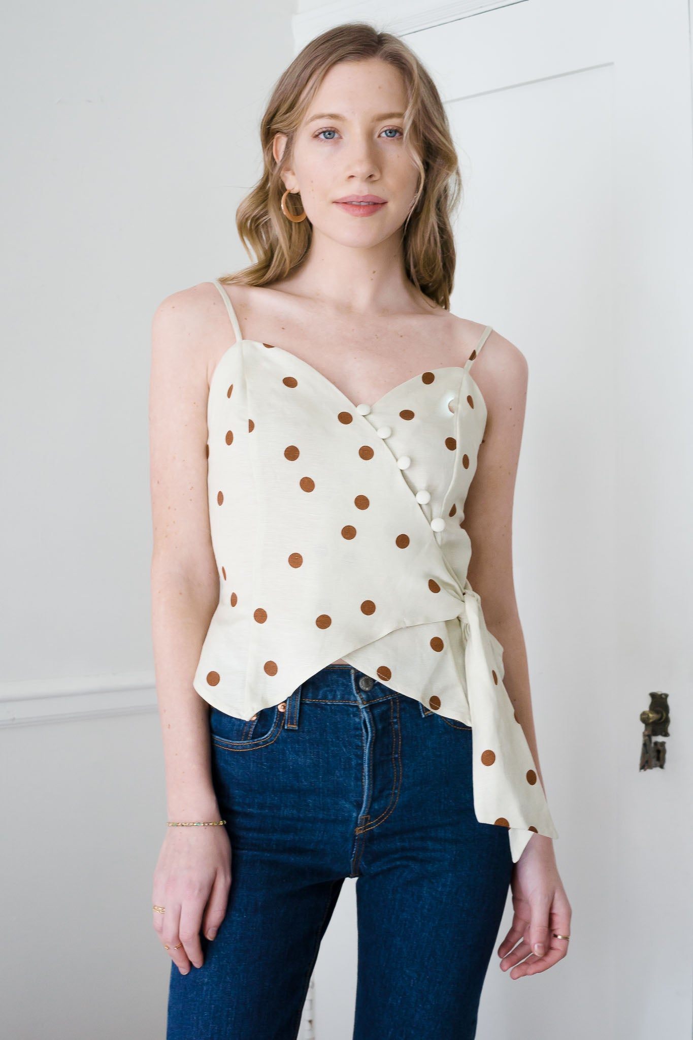 Wrapped Button Cami - The Canyon
