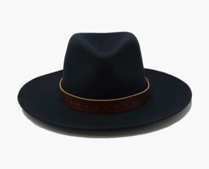 Harper Felt Leather Hat - The Canyon