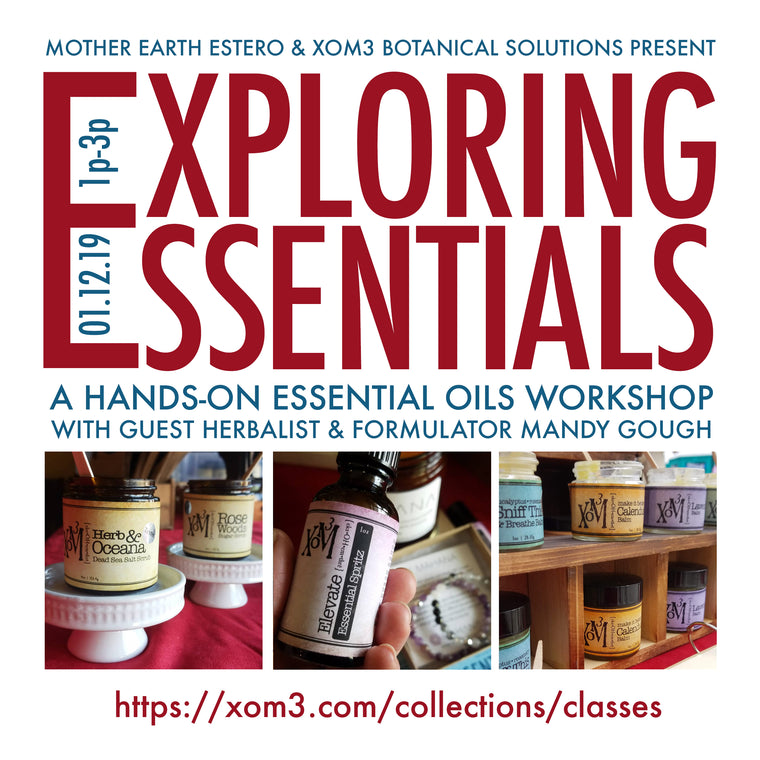 XoM3 Exploring Essentials Workshop 1/12/19 Florida - XoM3 Botanical Solutions