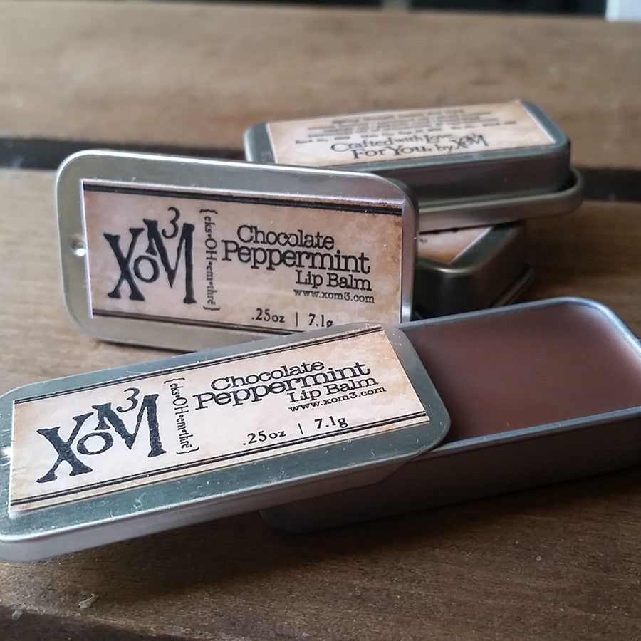Chocolate Peppermint Lipbalm - XoM3 Botanical Solutions