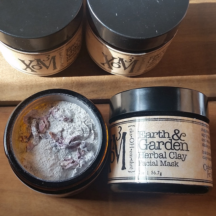 Earth & Garden Herbal Clay Facial Mask - XoM3 Botanical Solutions