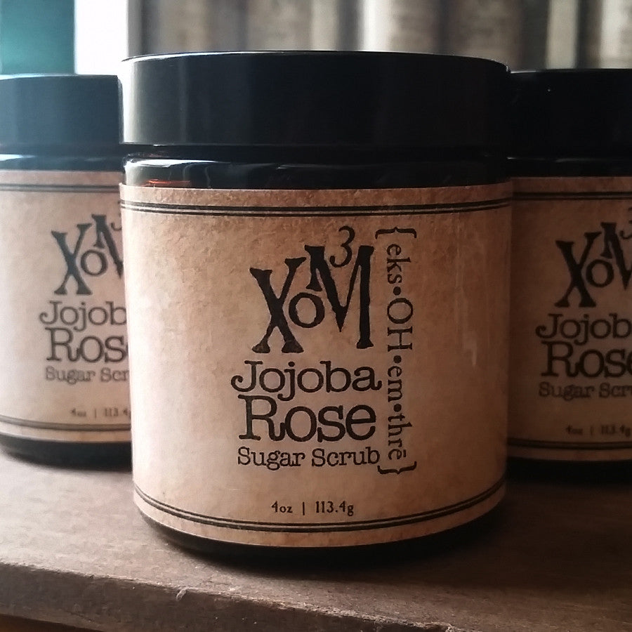 Rose Woods Sugar Scrub - XoM3 Botanical Solutions
