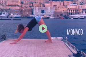 yoga travel video