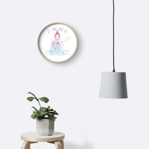 yoga home decor clock
