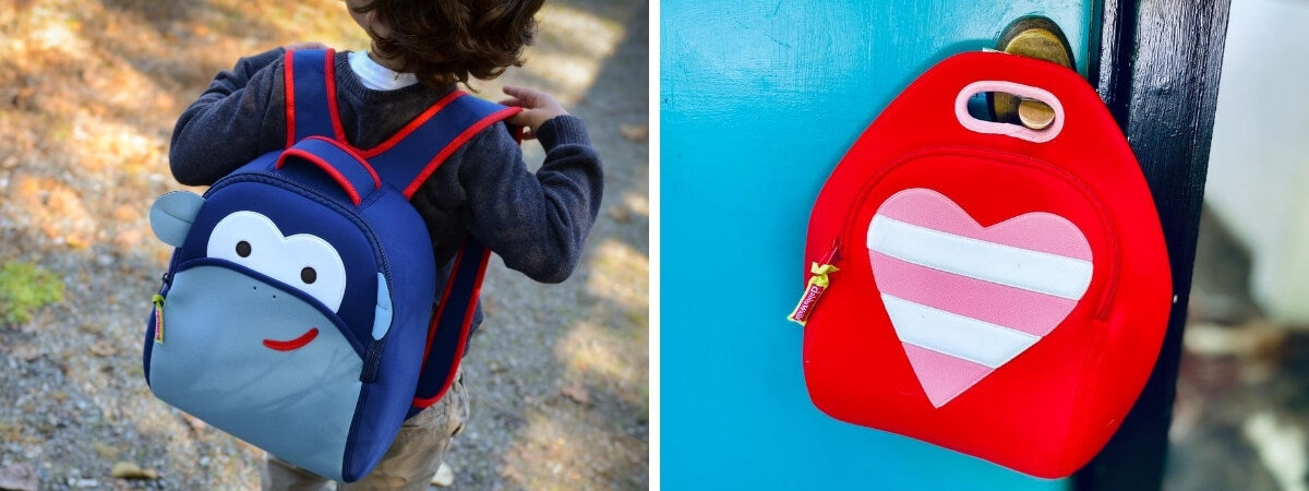 kids preschool backpack and washable lunch bag
