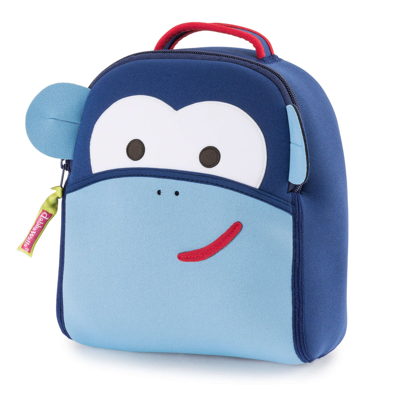 Blue Monkey Harness Backpack for Toddlers with safety tether.