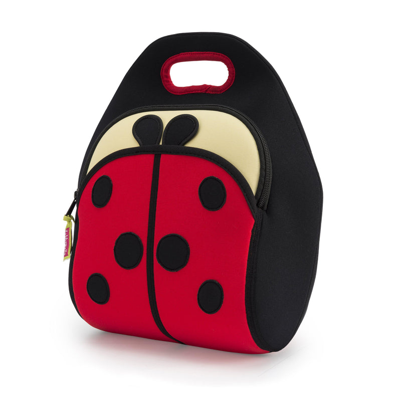Front View of Cute as a Ladybug washable Lunch Bag by Dabbawalla Bags.