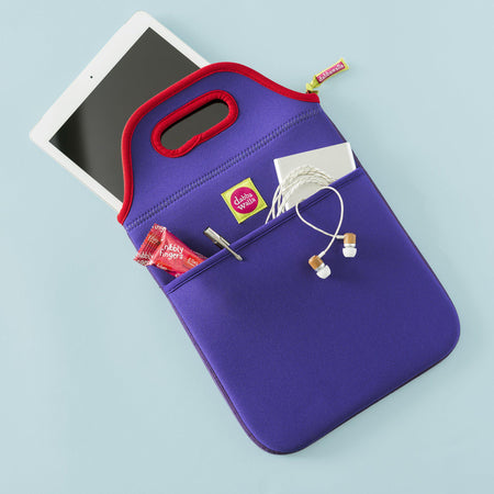 Flower Power Tablet Carry Bag by  Dabbawalla Bags Dabbawalla Tablet Bag is perfect for packing up a tablet, earphones, and chargers all in one handy case