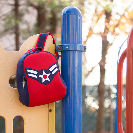 Preschool eco-friendly backpack by Dabbawalla Bags with a Captain America theme.