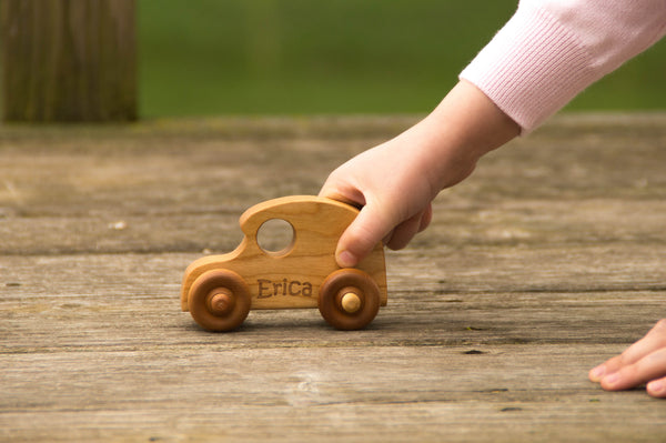 Wooden Toy Car - Personalized - Handmade Montessori Toy