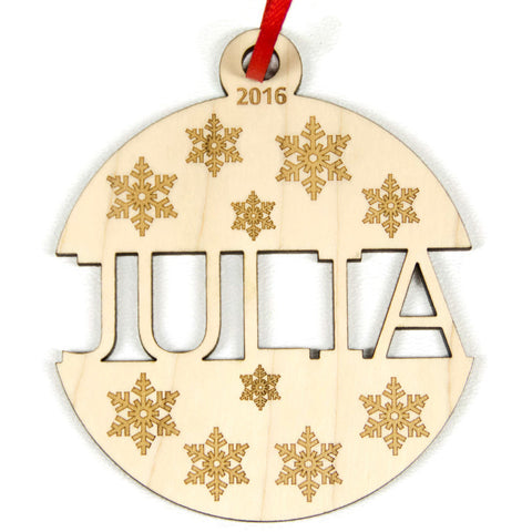 Baby's First Christmas Ornament Personalized Ball Ornament - Little Wooden Wonders