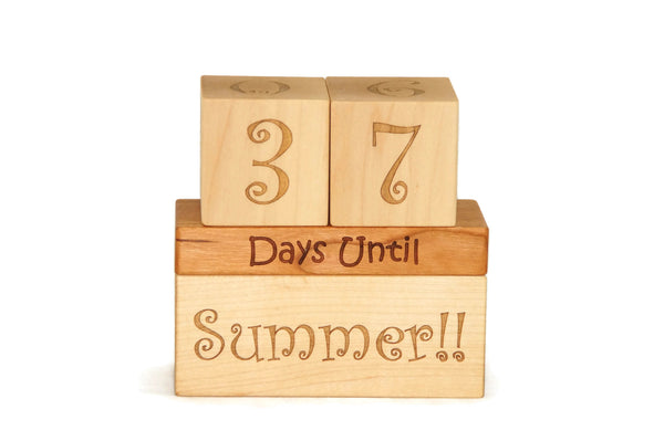 Countdown Calendar Blocks for Christmas, Birthday, Summer, and Vacation Ornament