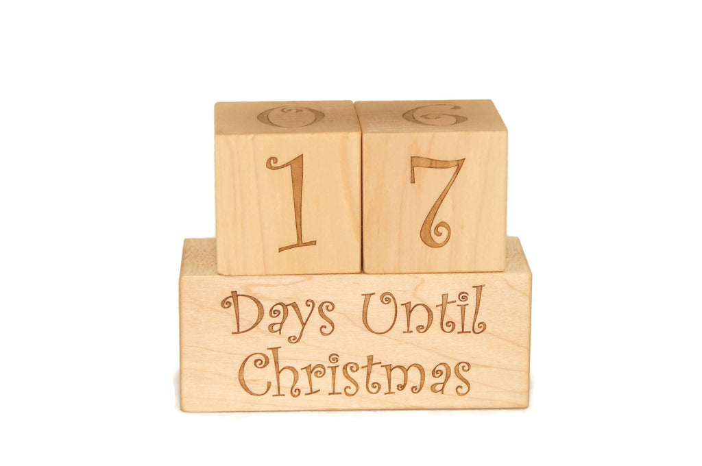 Christmas Countdown Calendar Blocks, Birthday Gift, Summer, and Vacation Ornament