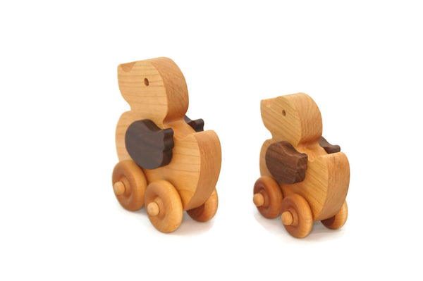 Wooden Toy Car - Duck Set - Personalized - Handmade Montessori Toy