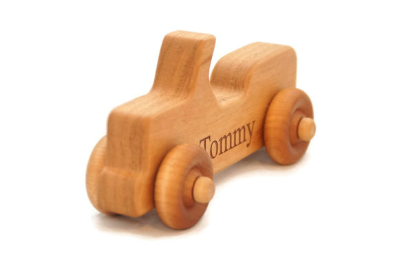 Wooden Jeep Toy Car