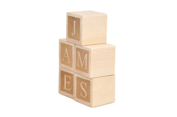 Wooden Name Blocks - Custom Letter Blocks - Handmade Decor