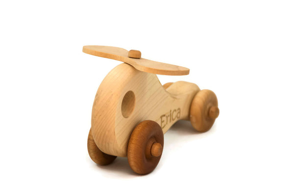 Wooden Toy Helicopter - Little Wooden Wonders