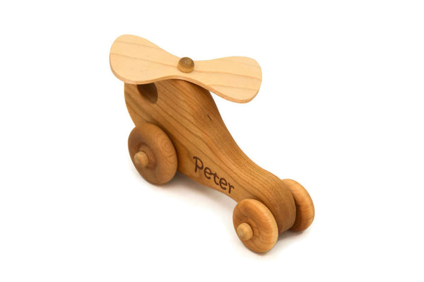 Wood Toy Helicopter - Handmade Montessori Toy
