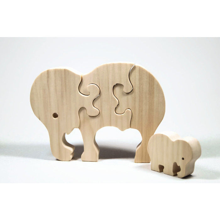 Handmade wooden animal puzzle elephant personalized montessori wooden animal puzzle elephant puzzle childrens puzzle personalized wooden puzzle childrens toy negle Images