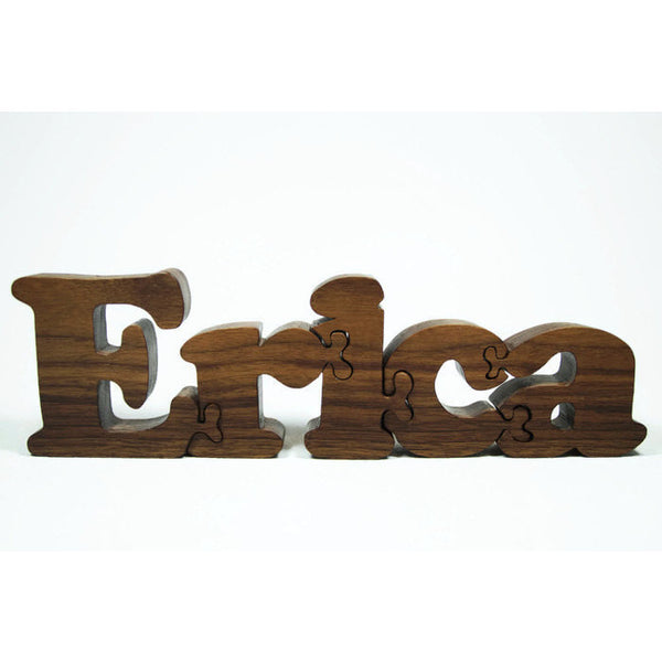 Wooden Name Puzzle Personalized Wood Custom Cut All Natural, Organic, and Eco Friendly - Little Wooden Wonders