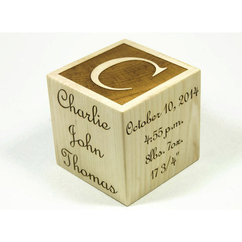 Personalized Baby Blocks, 3 inch Baby Block, Newborn, Birthday, Baptism Gift, Baby Shower Gift - Little Wooden Wonders