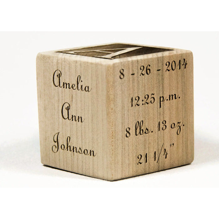 Custom wooden 2 baby block handmade personalized made to personalized wooden baby blocks 2 inch baby block baby shower gift baptism gift negle Image collections
