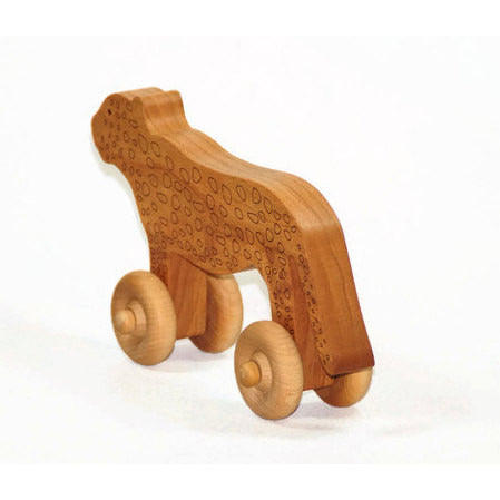 Wooden Toy Car, Leopard Wood Car, Jaguar Toy, Toddler Toy Car, Personalized Gift Toy for Babies, Toddlers and Preschool - Little Wooden Wonders