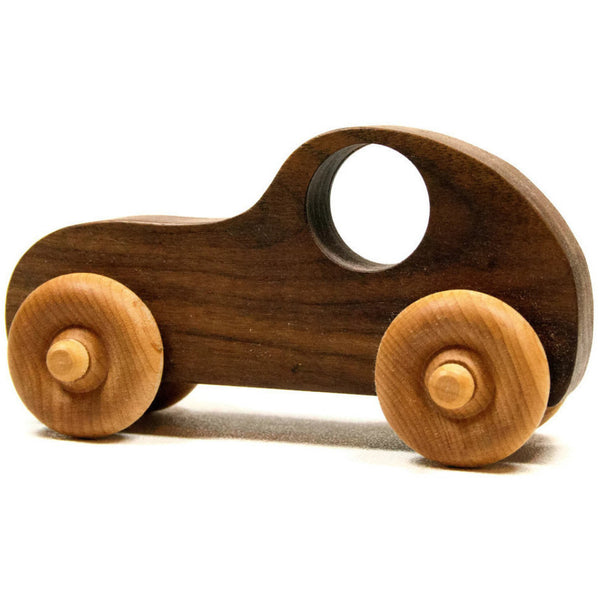 Wooden Toy Car - Personalized Toy Car, Race car push toy for kids, children, boys, and girls - Little Wooden Wonders