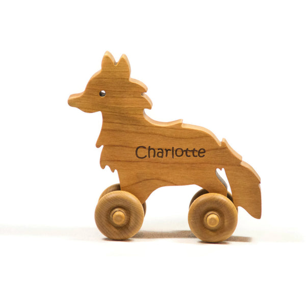 Wooden Toy Car Wooden Car - Fox Car Personalized for Children and Baby - Little Wooden Wonders
