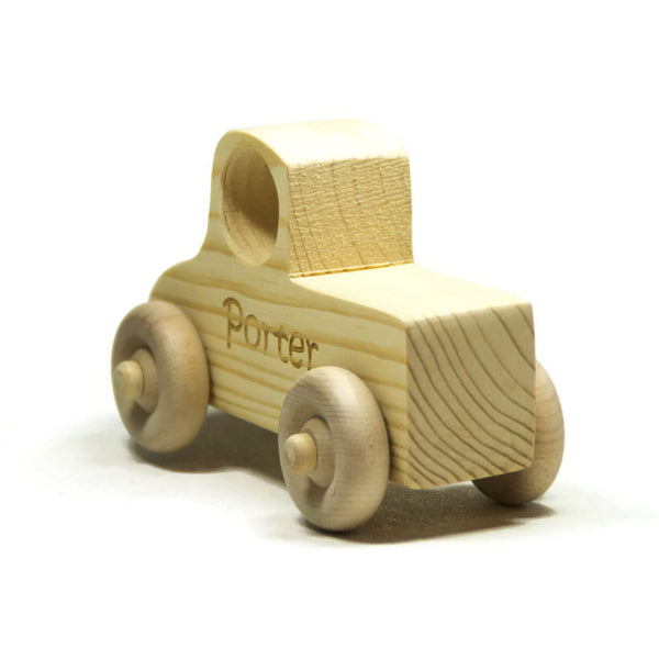 Wooden Toy Car, Wood Toy Truck, Toddler Toy Wood Truck Personalized for Children and Toddlers - Little Wooden Wonders
