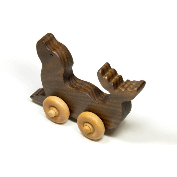 Wooden Toy Car, Wood Car Seal Animal Wooden Toy - Children's Toy, Toddler Toy - Personalized Gift for Children Personalized Gift for Kids - Little Wooden Wonders