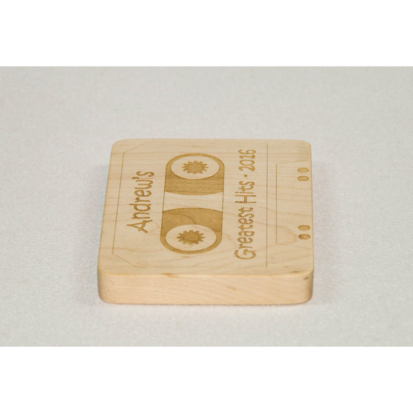 Wooden teether cassette tape personalized baby teething toy - Little Wooden Wonders