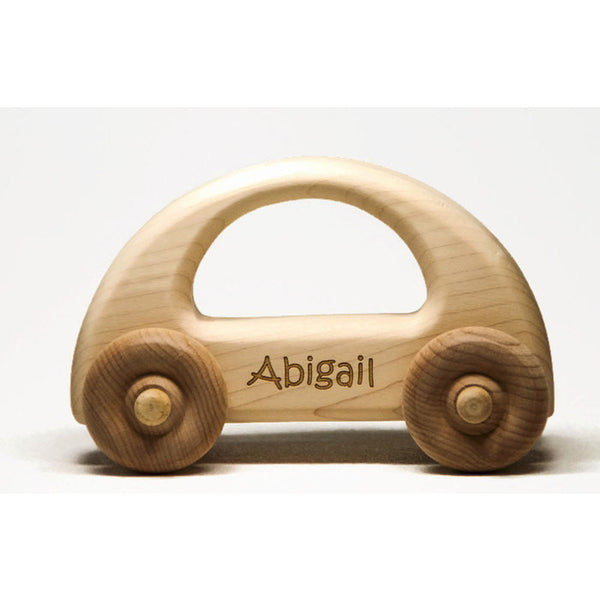 Wooden Toy Car - Personalized Toy Car, Childrens Toy Car, Baby Gift, Baptism Gift, Birthday Gift - Little Wooden Wonders