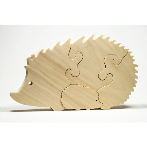 Hedgehog Puzzle Wood Baby Hedgehog Eco Friendly and Green for Toddlers and Children Personalized - Little Wooden Wonders