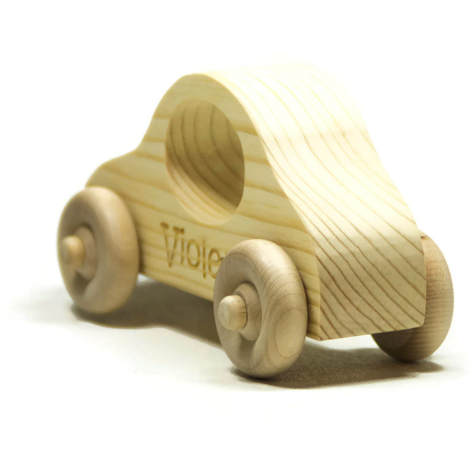 Wooden Toy Car - Personalized for Children - Handmade