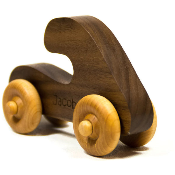 Wooden Toy Car Personalized Push Toy Wooden Children's Car - Little Wooden Wonders