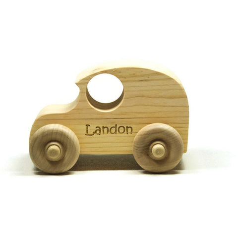 Wooden Toy Car - Personalized for Children and Toddlers - Little Wooden Wonders
