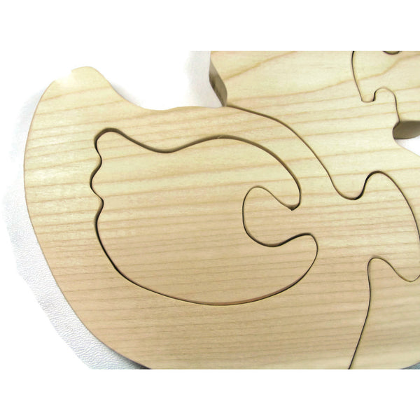 Wooden Duck Puzzle All natural organic wood baby duck - Little Wooden Wonders