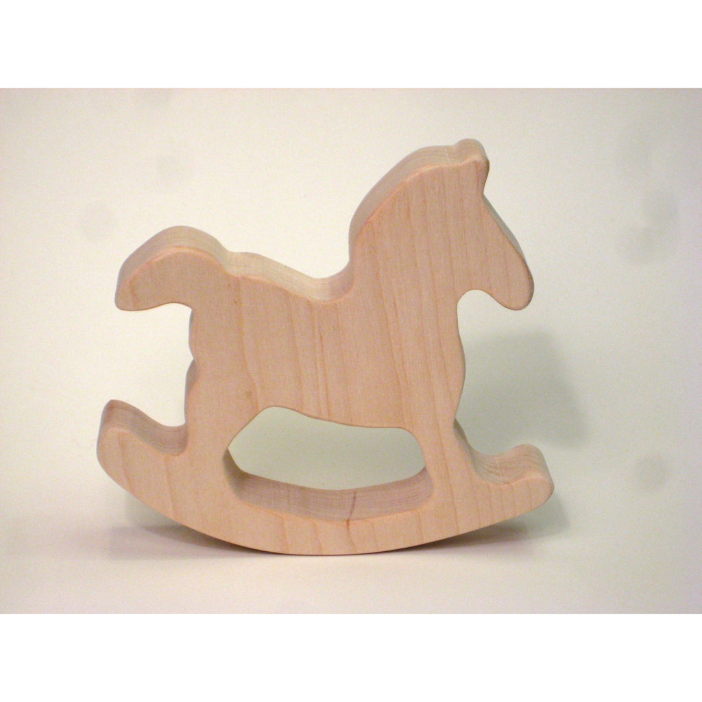 Wooden Teether Toy for Baby Rocking Horse Teether for Infants and Toddlers - Little Wooden Wonders