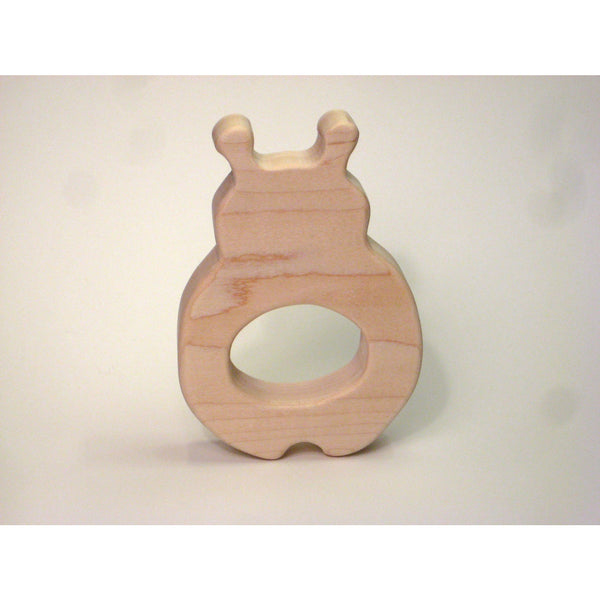 Wooden Teether,  Ladybug Teether for Infants and Babies - Little Wooden Wonders