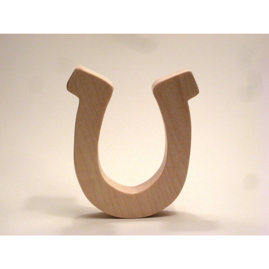 Wooden Teether Toy Horseshoe Teether for Infants and Toddlers - Little Wooden Wonders