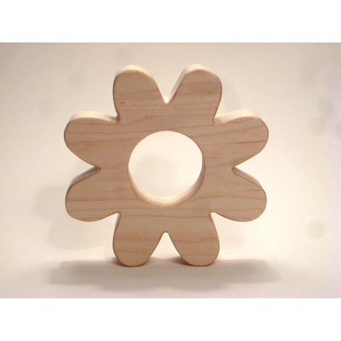 Wooden Teether Flower Teether for Infants and Toddlers - Little Wooden Wonders