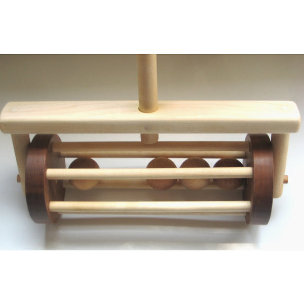 Wooden Toy Lawn Mower Push Toy for Children and Toddlers - Little Wooden Wonders