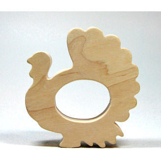 Thanksgiving Wooden Turkey Teether for Infants and Toddlers - Little Wooden Wonders