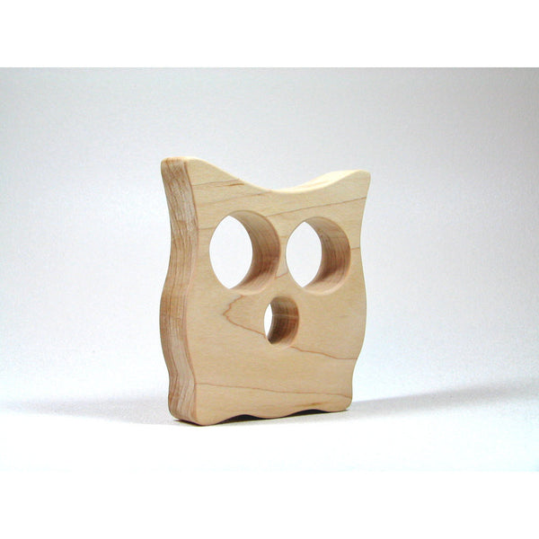Wooden Owl Teether - All natural safe eco friendly teething toy - Little Wooden Wonders