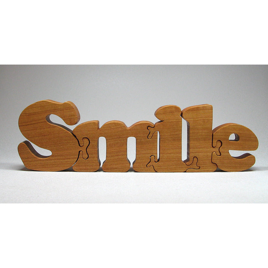 Wood Puzzle Custom Smile Cut All Natural, Organic, and Eco Friendly - Little Wooden Wonders