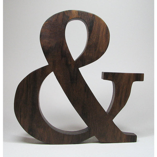 Wooden Ampersand Character & character Natural Solid Wood - Little Wooden Wonders
