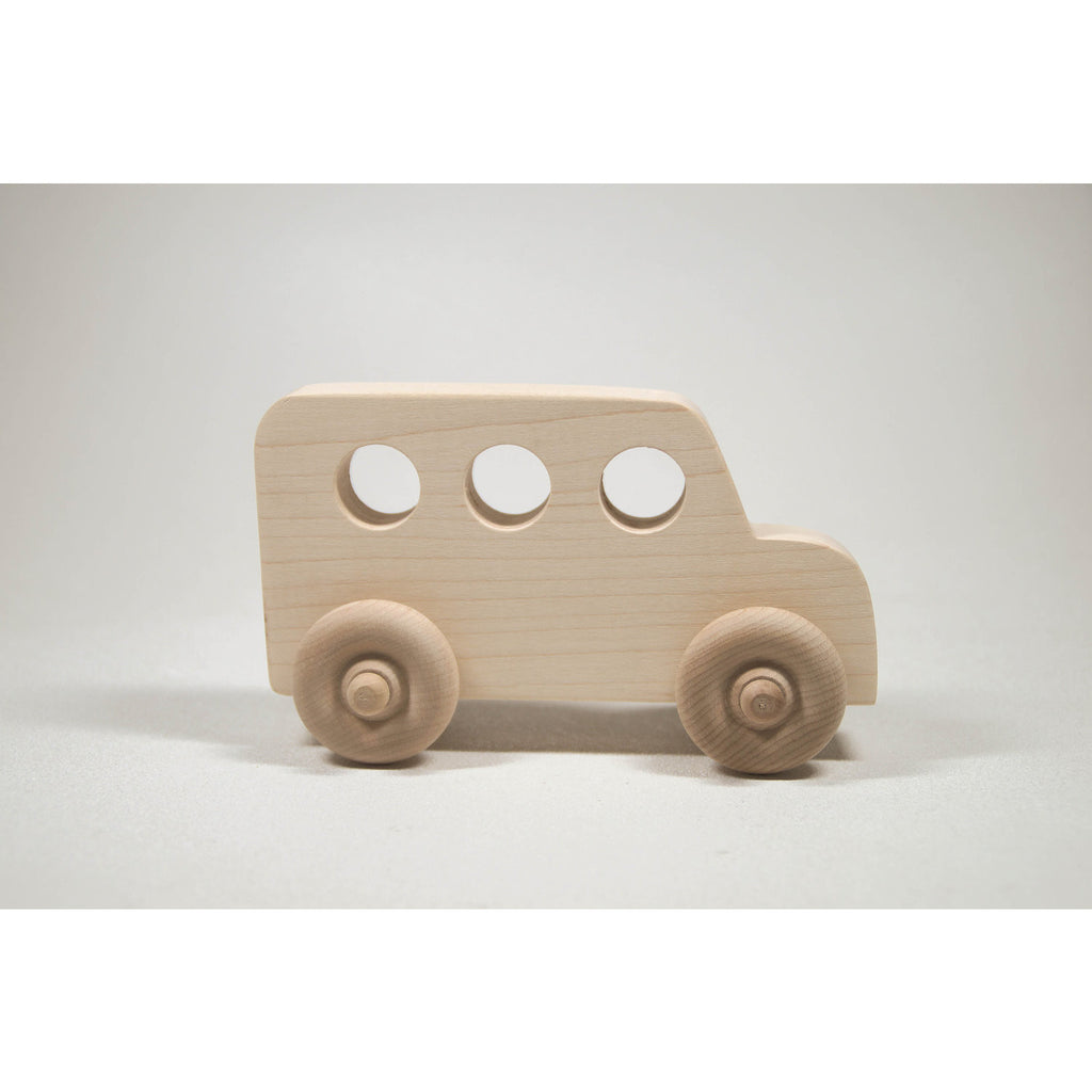 Wooden Toy Car, School Bus Toy, Personalized Toy - Little Wooden Wonders